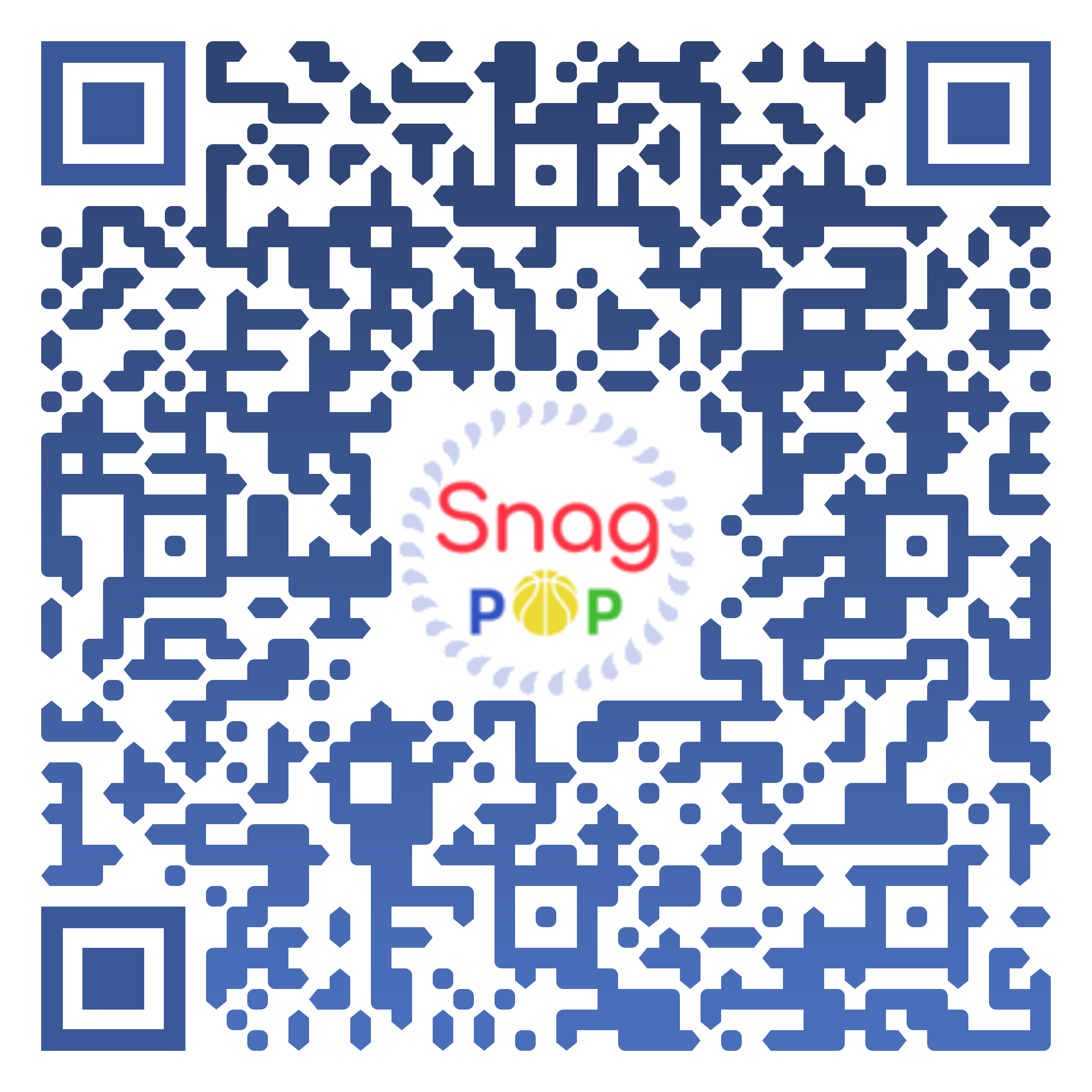 SnagPop App QR Code for Google Play